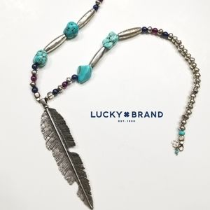 Lucky Brand Feather Necklace